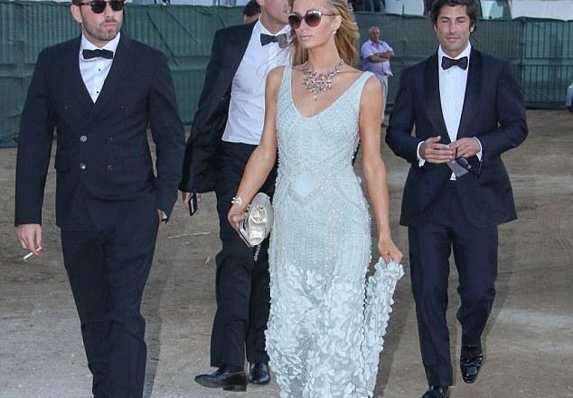 PHOTOS: Paris Hilton looks exquisite at society wedding in Greece