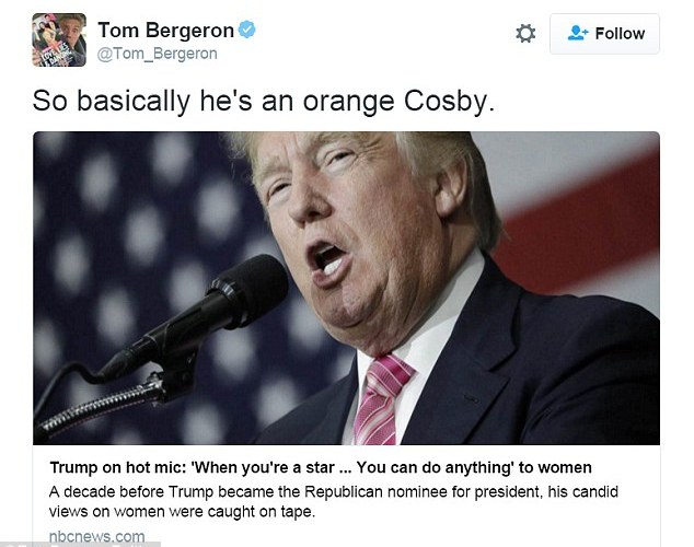 Celebs respond to Donald Trump's jaw dropping admission about women
