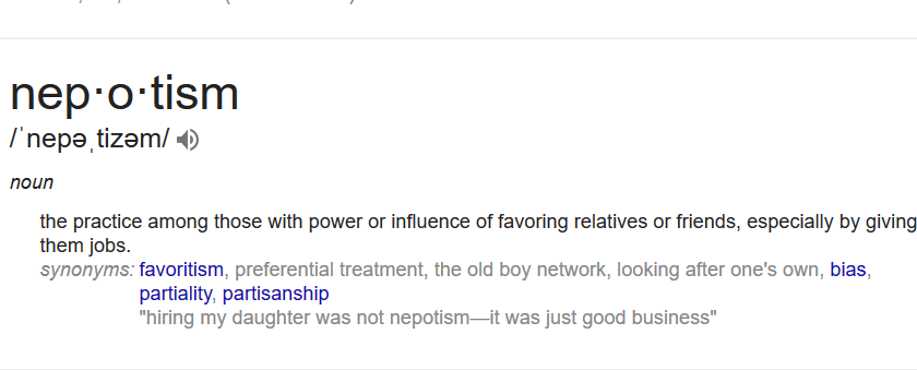 Here's what that pesky word Nepotism means @RealDonaldTrump