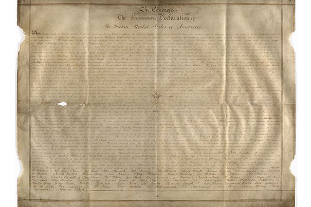 Someone found a never-before-seen copy of the Declaration of Independence