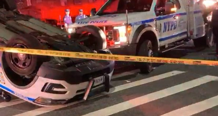 Breaking News: Stunning crash involving #NYPD vehicle unfolds in Brooklyn