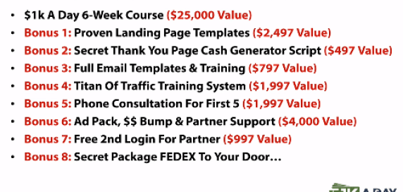 $1K A Day Fast Track Review 8