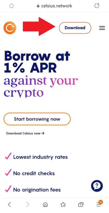 Celsius Wallet Signup 2