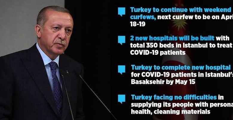 Turkey to continue weekend COVID-19 curfews: Erdogan 1