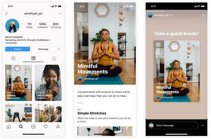 Instagram Debuts Guides Feature With Initial Focus on Wellness, Mental Health 1