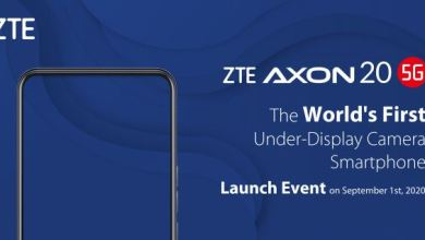 Photo of ZTE new 5G smartphone Axon 20 will have the first under-display camera and set to launch on September 1st.