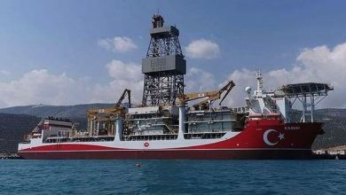 Photo of Turkish vessel preparing to start drilling in Black Sea