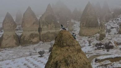 Snow blankets lure tourists in Cappadocia, Turkey 26