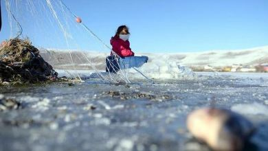 Eskimo-style ice fishing season begins in Turkey's east 7