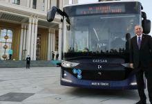 Erdogan tests Turkey's 1st driverless electric bus 10