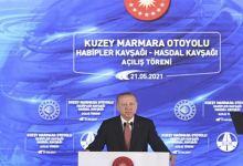 President Erdoğan Marks Completion of the North Marmara Highway 11
