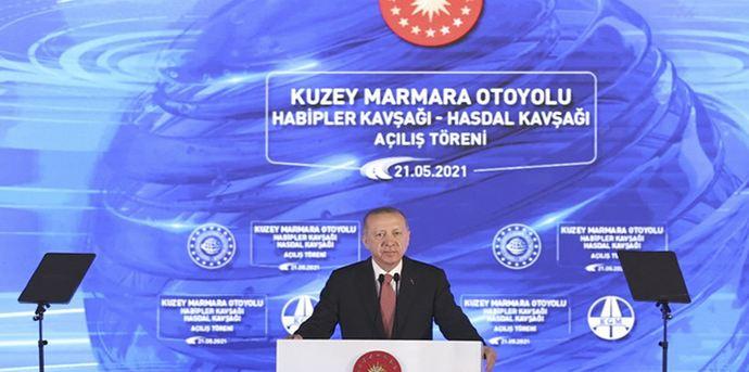 President Erdoğan Marks Completion of the North Marmara Highway 1