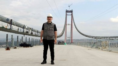 Minister of Transport gave information about the latest situation in 1915 Canakkale Bridge and Kanal Istanbul 5