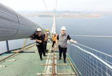 Landmark bridge's catwalk links two sides of Dardanelles 2