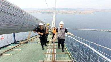 Landmark bridge's catwalk links two sides of Dardanelles 18