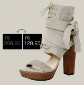 Sandália de $259,90 por $129,95