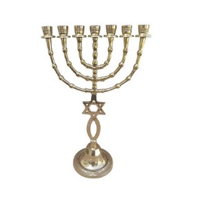 Messianic Menorah 15 Inch Height