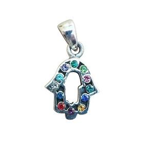Hamsa Pendant With Zircon - Silver 925