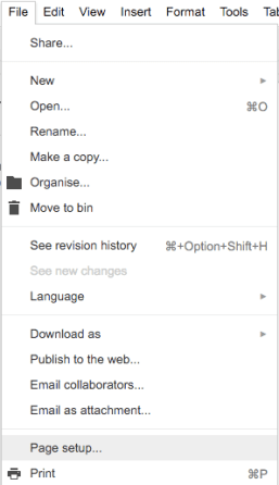 Here You Can Change The Paper Orientation Size Page Colour And Margins