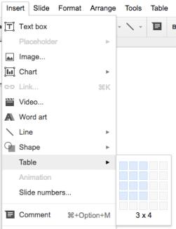 Google Slides (17) – Tables | Learning G Suite & Apps Script