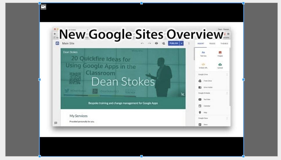 Google Slides (24) – Adding video | Learning G Suite & Apps