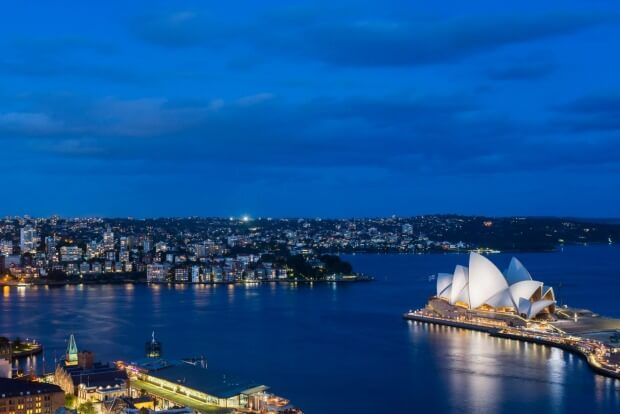 Sydney Harbour at night. Photo: Alamy