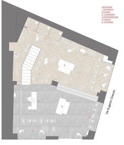 Progettazione negozio di abbigliamento Class - planimetria