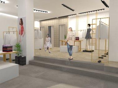Progettazione negozio di abbigliamento Class - render