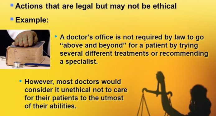 legal but not ethical