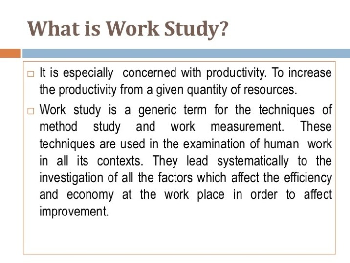 Meaning of Work Study