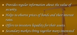 Basic functions of the secondary market