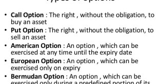 Types of Options in Finance