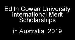 Edith Cowan University International Merit Scholarships in Australia