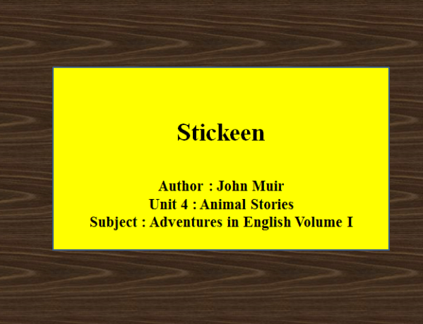 Stickeen – Four Levels | Adventures in English Volume I