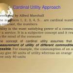 Cardinal Utility Approach