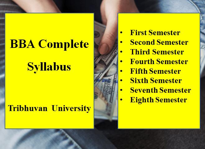 BBA Complete Syllabus of TU
