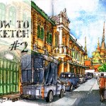 How to Sketch #2 : ตีฟจุดเดียว One-Point Perspective