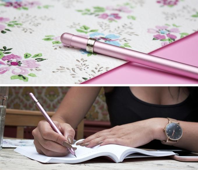 ดินสอ MAGNO สีชมพู Strawberry Gold ที่มา : kickstarter.com