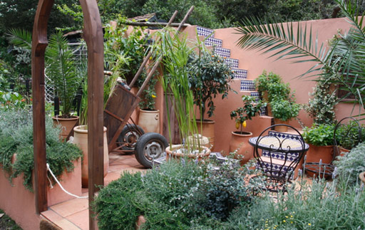 The SPANA garden at Chelsea (BBC)
