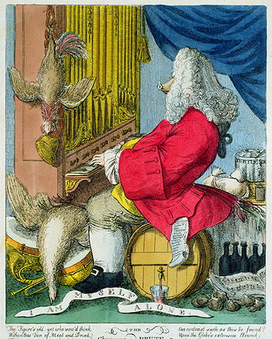 Handel depicted as The Charming Brute
