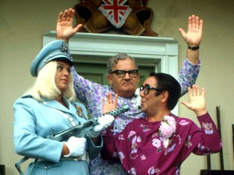 The fabulous Diana Dors with the Two Ronnies in The Worm that Turned