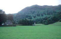 Inspiring view of rolling hills of the lake district