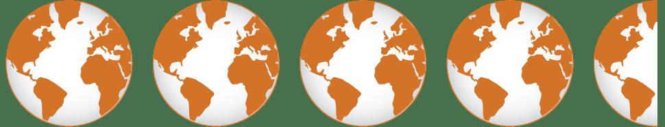 4.5 globe icons