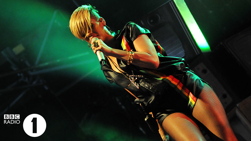 Rihanna performing live at Radio 1's Big Weekend 2010
