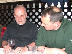 Pat Nevin with John Peel