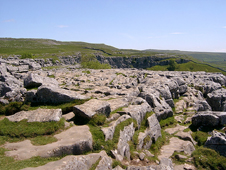 Limestone pavement on top of Malham Cove