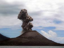 Krakatoa in the Sunda Strait, Indonesia