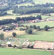 Aerial view of the Hampshire countryside
