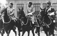 Photograph showing Indian cavalry at the coronation George VI in 1936
