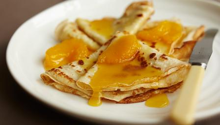 Image result for pancakes with orange sauce